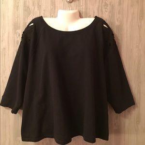 6TH&LN Cut Out Shoulder Sweatshirt Top Size 26/28